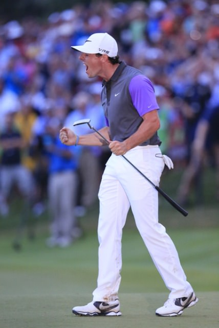 Rory McIlroy in his moment of triumph at the US PGA. Picture Eoin Clarke, www.golffile.ie
