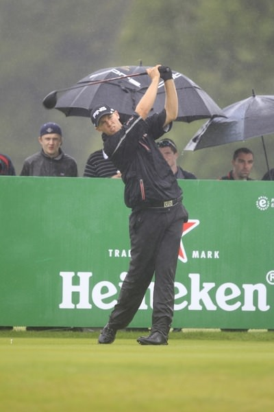 Seamus Power during round one of the 2013 Irish Open at Carton House, where he finished T63. Picture: Thos Caffrey / www.golffile.ie