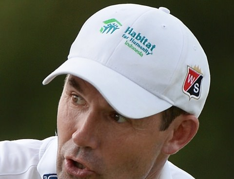 Padraig Harrington was supporting a local charity on his cap. Picture: Khalid Redza / ASIAN TOUR