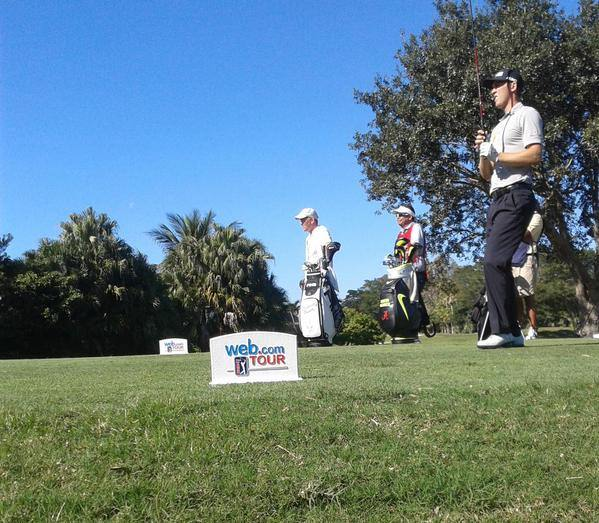 Seamus Power during round three of the Web.com Tour Q-School. Picture via Twitter, © Eoin Cass