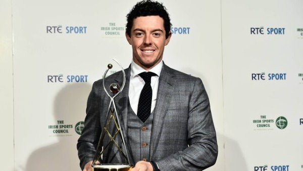 Rory McIlroy with the 2014 RTÉ Sports Person of the Year award