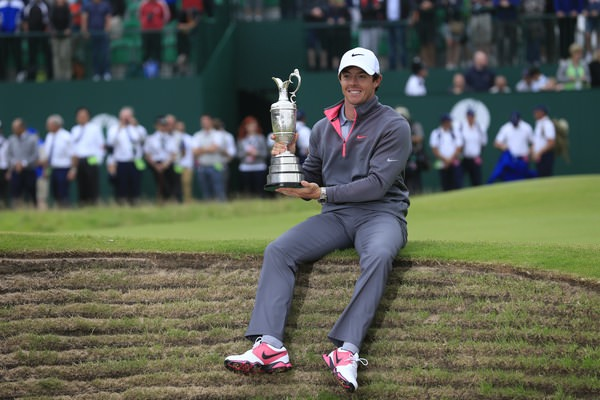 Rory McIlroy — the man of the year — with the Claret Jug. Picture Fran Caffrey, www.golffile.ie