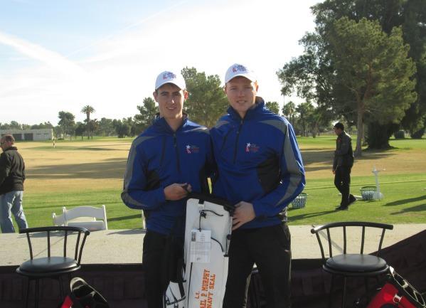 Gary Hurley and Robin Dawson in Arizona this week.