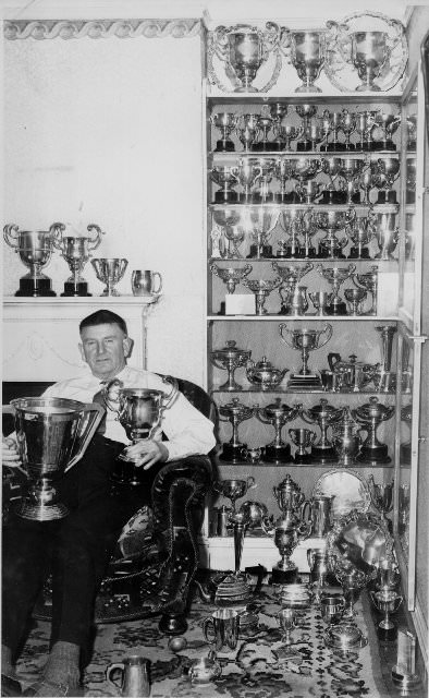 John Burke with some of his trophies. Picture courtesy Limerick Golf Club