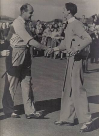 Ceil Ewing and JB Carr in 1950. Picture courtesy County Sligo Golf Club