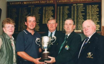 Graeme McDowell with the 2000 Leinster Youths trophy at Laytown and Bettystown