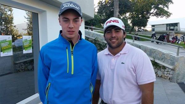 The Island's Kevin LeBlanc with Spain's Mario Galiano at Real Club de Golf Guadalmina.