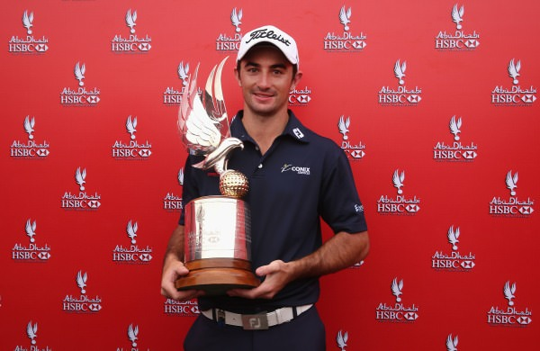 Gary Stal with the Abu Dhabi HSBC Golf Championship. Picture © Getty Images