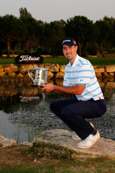Niall Kearney following his win in the Titleist PGA Playoffs in Turkey last year