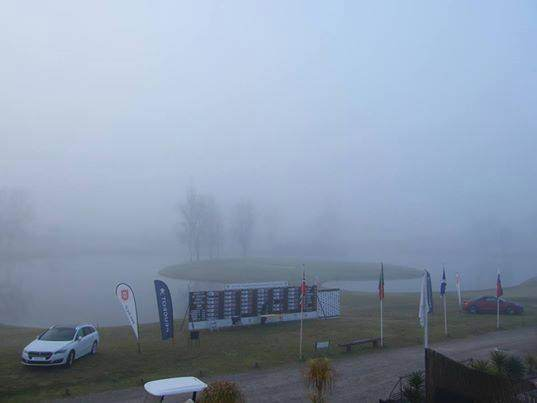 Early morning fog delayed the second round of the Portuguese Amateur Championship. Picture via  Federação Portuguesa de Golfe