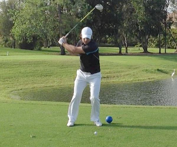 Stephen Grant en route to his revise win on the Minor League Golf Tour in 2013
