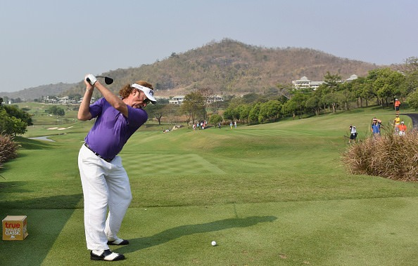 Miguel Angel Jiménez in action in the True Thailand Classic at Black Mountain Golf Club in Hua Hin. Picture: © Getty Images