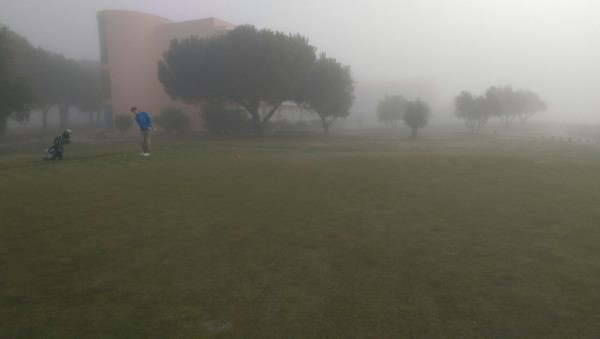 Montado Gofl Hotel and Resort during the fog delay. Picture courtesy Jude O'Reilly