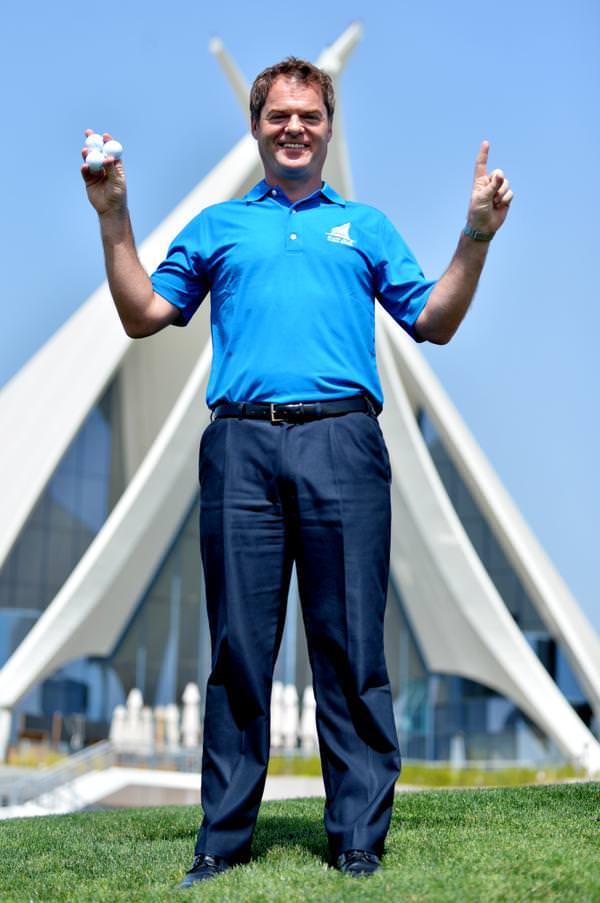Michael McGinley Jnr. Picture via @DubaiCreekGolf
