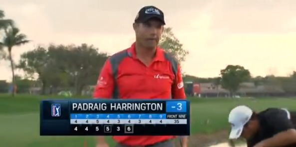 Pádraig Harrington after his double bogey six at the sixth