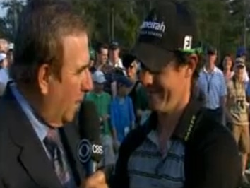 Pete Kostis interviews Rory McIlroy after his 80 at Augusta National on 20111