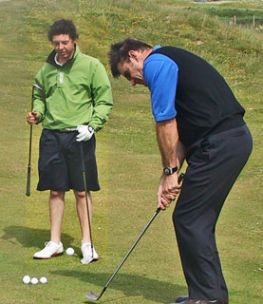 Rory McIlroy and Nick Faldo