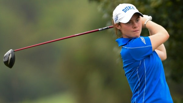Duke's Leona Maguire, the No 1 collegiate player in the US, leads   the Darius Rucker Intercollegiate at Hilton Head