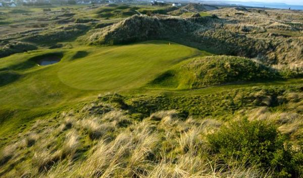 The eighth green at Laytown and Bettystown in Co Meath. Picture courtesy Laytown and Bettystown Golf Club