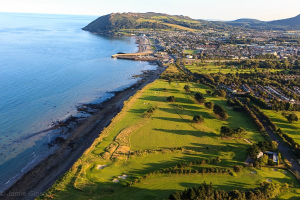 An aerial view of Woodbrook Golf Club, venue for this week's Irish Colleges Match Play finals. Picture © Jamie Gibson/ Woodbrook GC