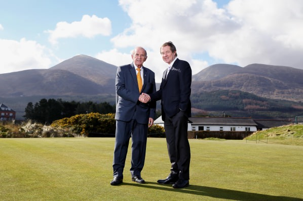 Colm McLoughlin, Executive Vice Chairman, Dubai Duty Free and George O'Grady, Chief Executive, The European Tour. Picture by  Kelvin Boyes