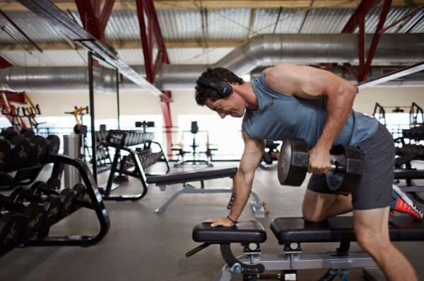 Rory McIlroy working out last weekend. Picture © Rory McIlroy/Facebook