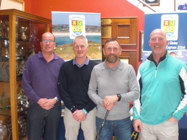 North Western Golfing Alliance Captain Brian Wallace [left] with his playing partners Michael Houston, Mark Caithness and Adrian Cummings