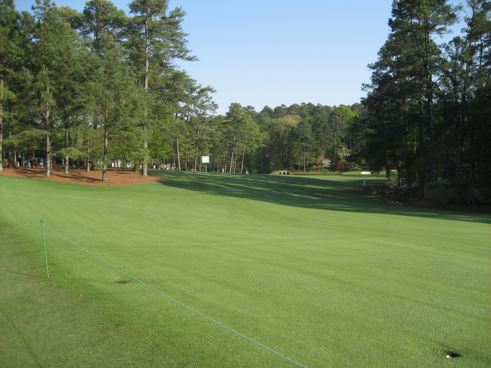 The landing area on the 13th at Augusta National. Picture © Brian Keogh