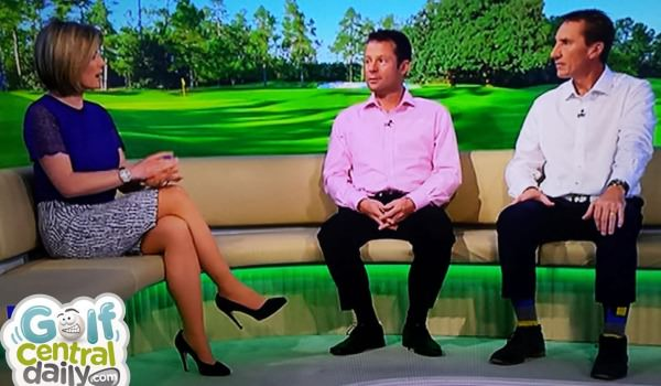 John McLaren, far right, on Sky Sports on Saturday. Picture via  GolfCentralDaily.com