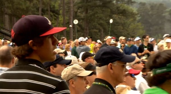 Brooks Koepka watches Rory McIlroy at Augusta National