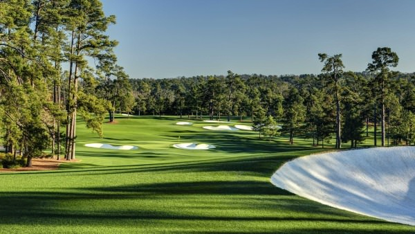 Augusta National's second hole. Picture via Masters.org