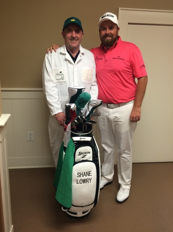 """Myself and the big man ready to roll. #par3 #augusta"" Shane Lowry pictured with his father Brendan before the Par-3 Contest on the eve of the 2015 Masters where he is making his debut. Picture via Twitter.com/ShaneLowryGolf"