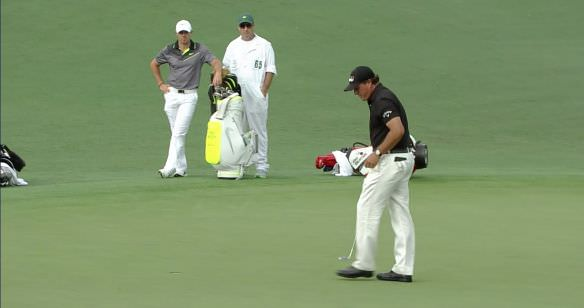 Rory McIlroy and Phil Mickelson played together for the first two rounds of the Masters Tournament