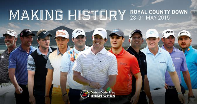 Darren Clarke, Padraig Harrington, Luke Donald, Rickie Fowler, Patrick Reed, Rory McIlroy, Martin Kaymer, Sergio Garcia, Ernie Els, Lee Westwood and Graeme McDowell are just 12 of the star names set for the Dubai Duty Free Irish Open at Royal County Down
