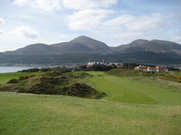 The ninth fairway at Royal County Down