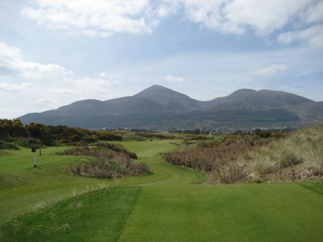 The view from the 16th tee at Royal County Down. (Please click to expand)