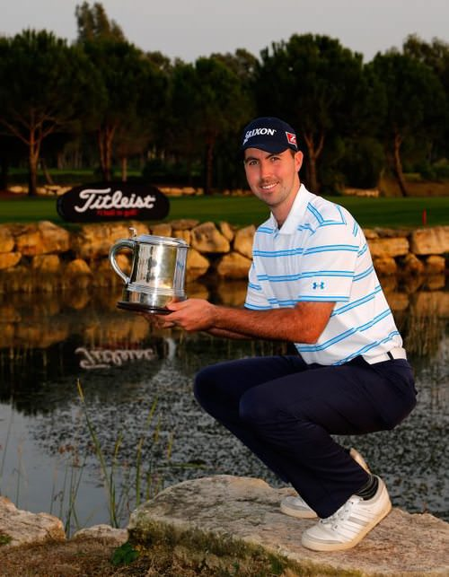 Niall Kearney following his win in the Titleist PGA Playoffs in Turkey last year.
