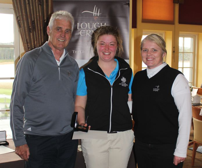 Co Sligo's Maeve Rooney receives the Under 16 prize