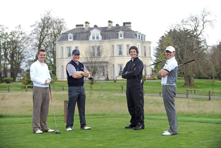 Budding pros Gareth Shaw, Michael McGeady, Richard Kilpatrick and Colm Moriarty at Moyvalley back in 2010.
