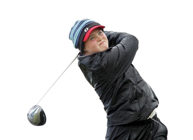 Killarney's Mairead Martin is in contention at the Fairhaven Trophy. Picture via ILGU/Pat Cashman