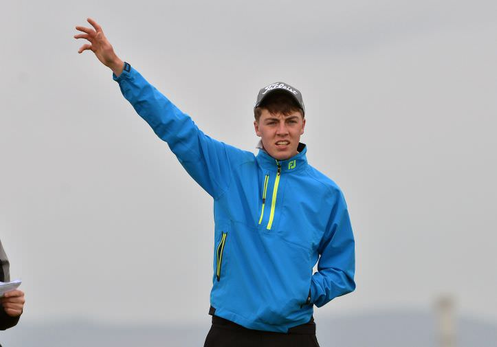 Aiming High.....Kevin Le Blanc (The Island) on the 3rd tee in the second round of the 2015 Irish Amateur Open Championship. Picture by  Pat Cashman