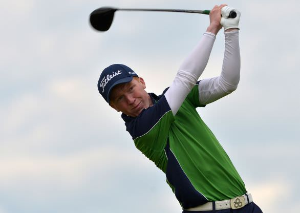 Gavin Moynihan (The Island) driving at the 14th tee. Picture by  Pat Cashman