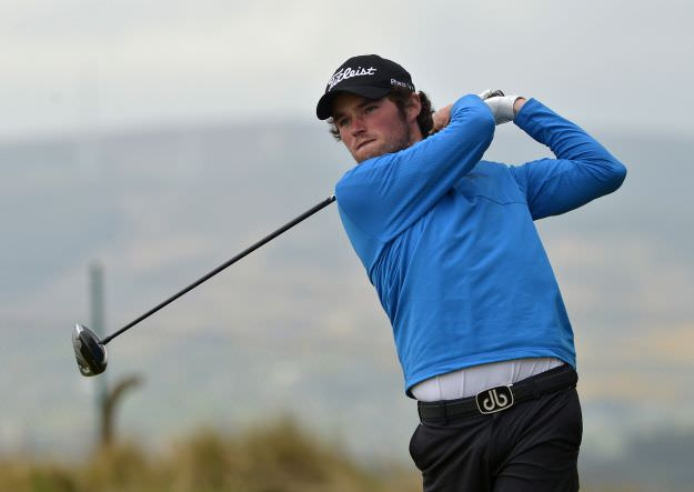 Cormac Sharvin (Ardglass) driving at the 5th tee in final round. Picture by  Pat Cashman