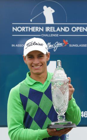 2014 NI Open Winner Joakim Lagergren of Sweden