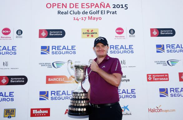 James Morrison with the Open de España trophy. Picture © Getty Images