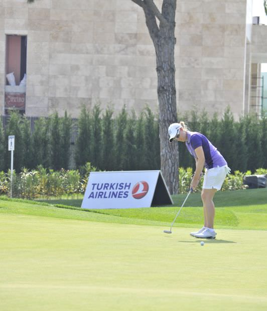 Rebecca Codd pars the 17th in the first round of the Turkish Airlines Ladies Open in Belek