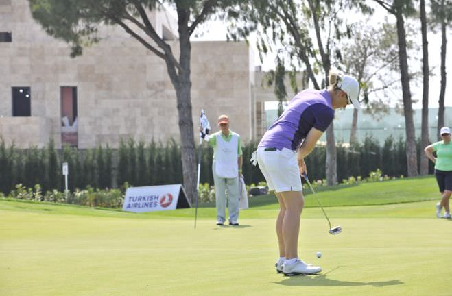 Rebecca Codd putting in the Turkish Airlines Ladies Open. Pictures courtesy Turkish Airlines