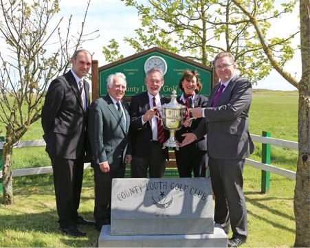 Pictured at the launch of the 75th Edition of the East of Ireland Championship (l to r) Andrew Greenslade, Sales & Marketing Manager, CityNorth Hotel, John Ferriter, Chairman, Leinster Golf, Michael Kennedy, Captain, County Louth Golf Club, Lucy McConnell, Lady Captain, County Louth Golf Club, Eamonn Dunne, Financial Controller, CityNorth Hotel