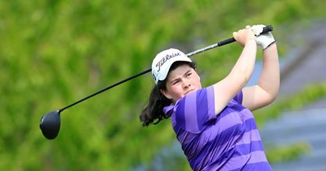 Niamh McSherry is tied for the lead in the Irish Women's Open Strokeplay at Dun Laoghaire