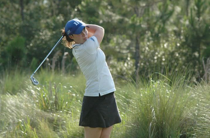 Leona Maguire in action at the Concession. Picture courtesy Lindy Brown, Duke Sports Information